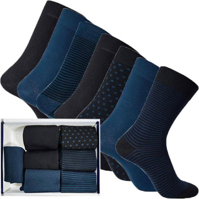 IQ SOX Bambus Socks 7-pack - Midnight Blue