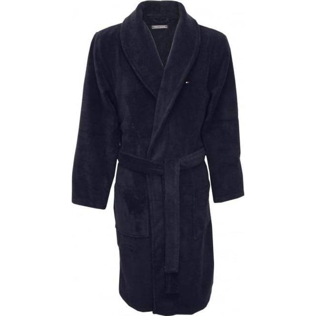 Tommy Hilfiger Cotton Towelling Bathrobe Navy Blazer-Pt (2S87905539)