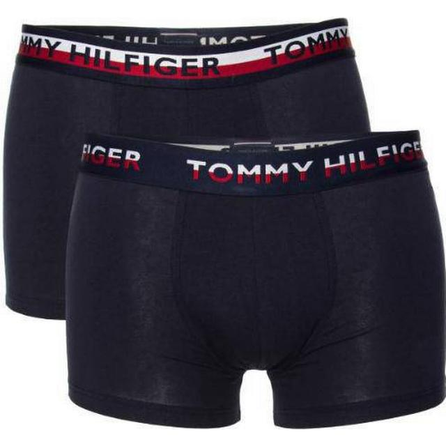 Tommy Hilfiger 2 Pack Logo Waist Trunks - Navy Blazer/Navy Blazer