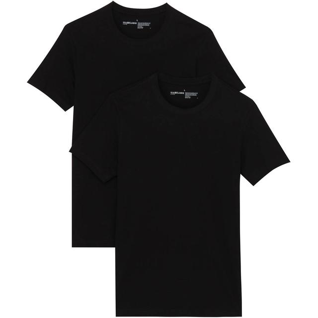 Bread and Boxers Crew-Neck T-shirt 2-pack - Black