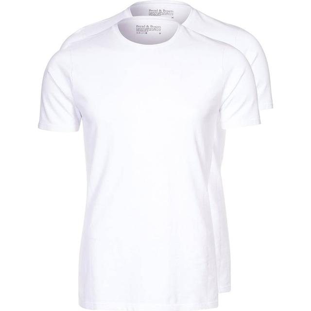 Bread and Boxers Crew-Neck T-shirt 2-pack - White