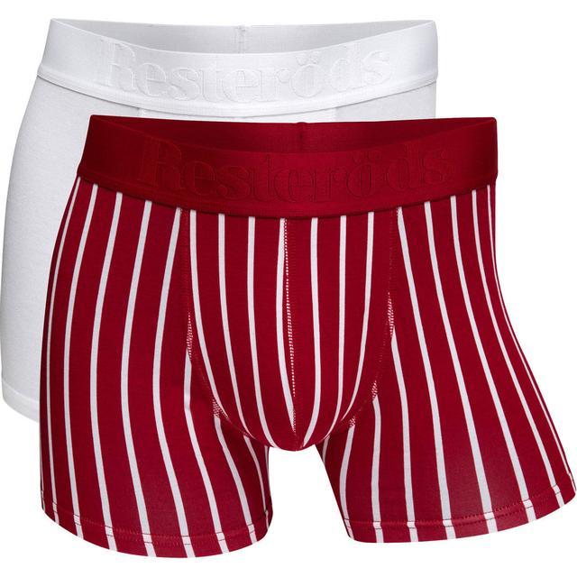 Resteröds Gunnar Bamboo Boxer 2-pack - Red/White
