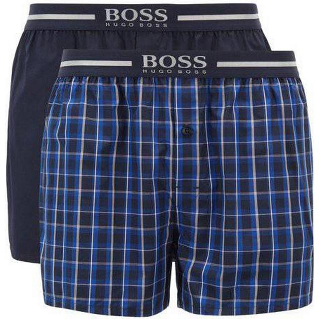 Hugo Boss EW Pyjama Boxer Shorts 2-pack - Blue
