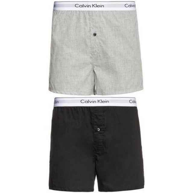 Calvin Klein Modern Cotton Slim Fit Boxer 2-pack - Black/Grey Heather