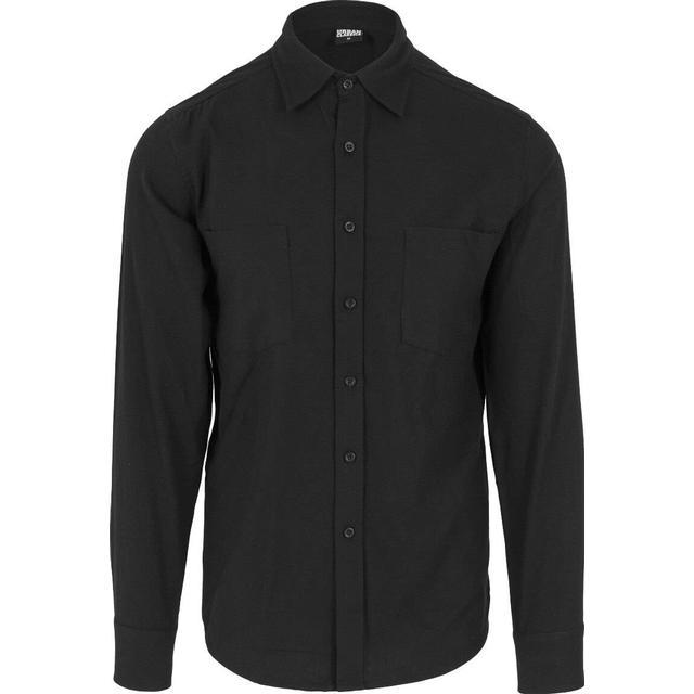 Urban Classics Checked Flanell Shirt - Black/Black
