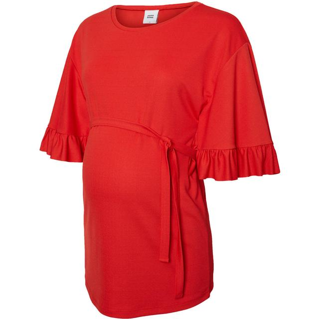 Mama.licious Jersey Maternity Top 3/4 Sleeved Red/Chinese Red (20008857)
