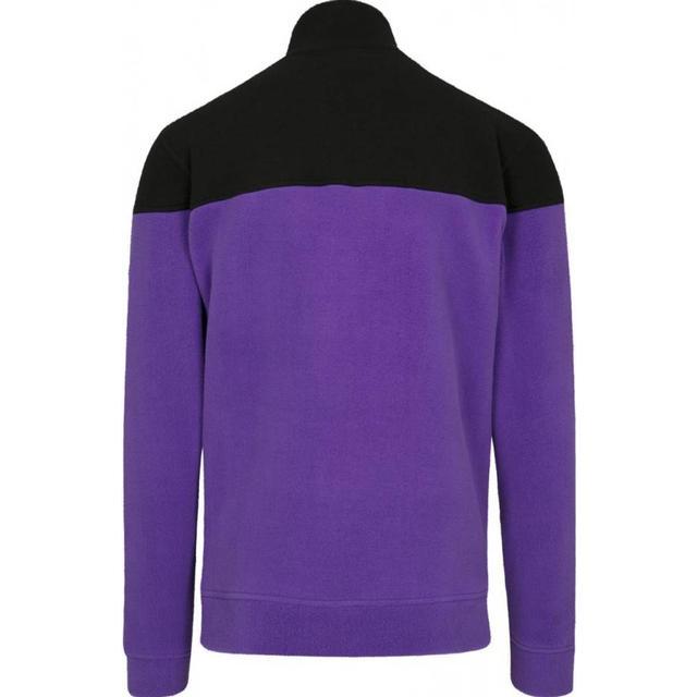 Urban Classics Oversize 2-Tone Polar Fleece Jacket - Ultravilolet/Black