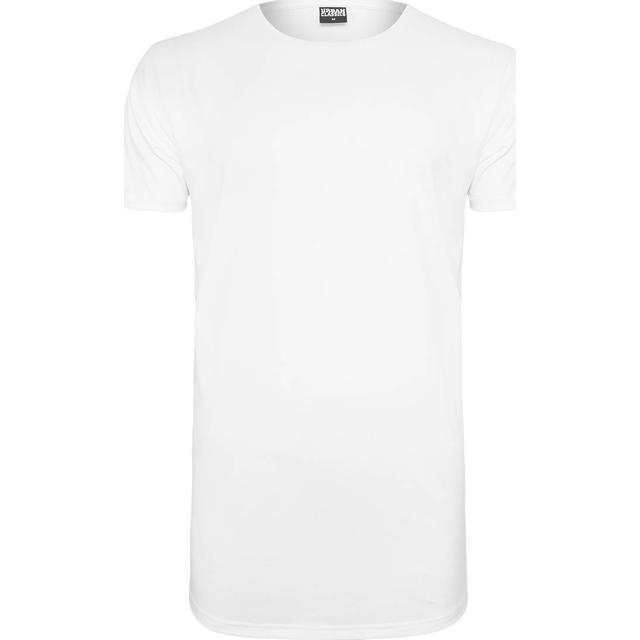 Urban Classics Shaped Neopren Long Tee - White