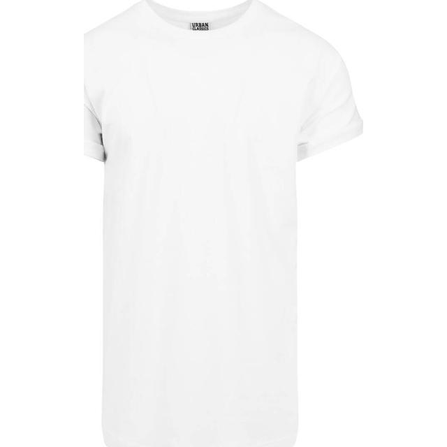 Urban Classics Long Shaped Turnup Tee - White
