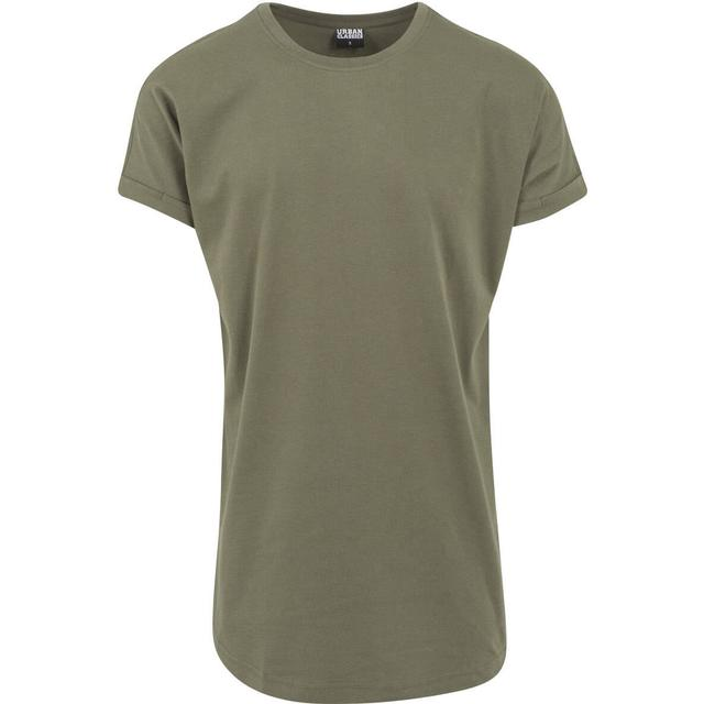 Urban Classics Long Shaped Turnup Tee - Olive