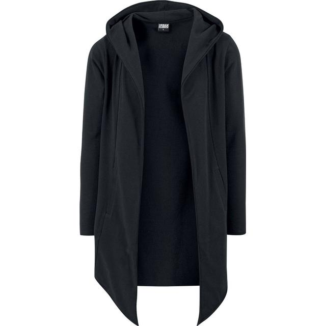 Urban Classics Long Hooded Open Edge Cardigan - Black