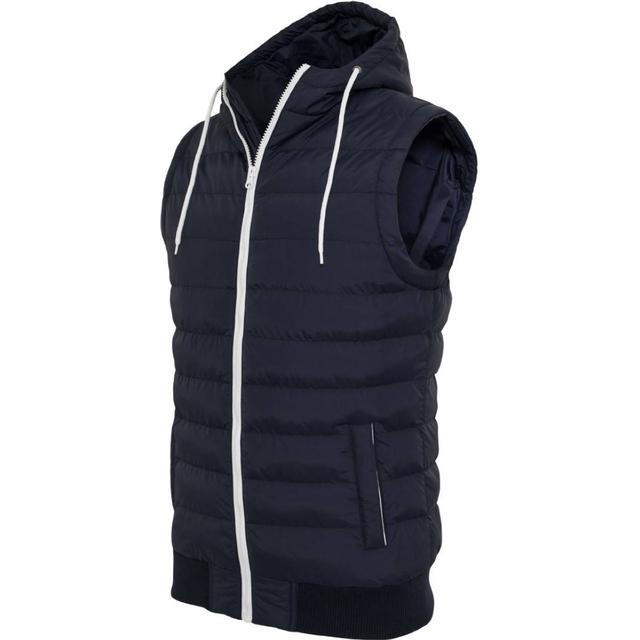 Urban Classics Small Bubble Hooded Vest - Nvy/Wht