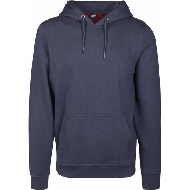 Urban Classics Back Stripe Hoody - Navy/Fire Red/White