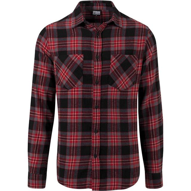 Urban Classics Checked Flanell Shirt 3 - Black/Grey/Red