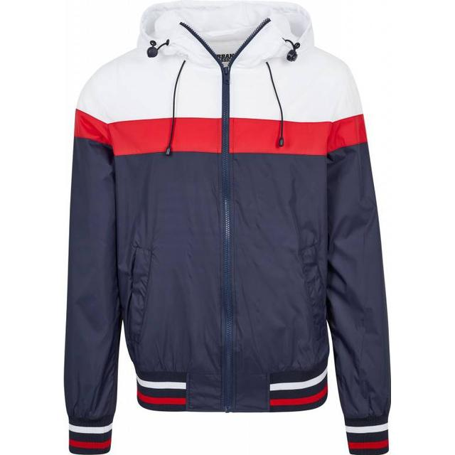Urban Classics College Windrunner - Navy/White/Fire Red