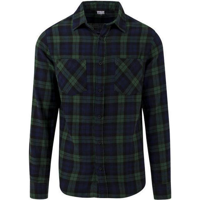 Urban Classics Checked Flanell Shirt 3 - Forest/Navy/Black
