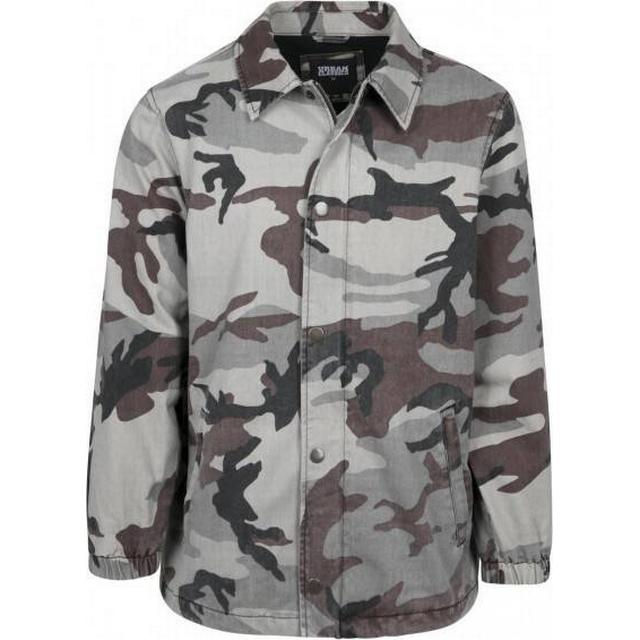 Urban Classics Camo Cotton Coach Jacket - Grey Camo