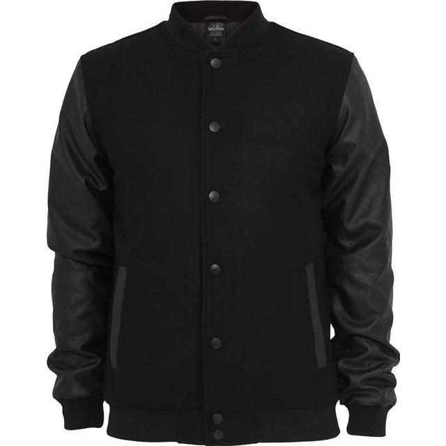 Urban Classics Old School College Jacket - Black/Black