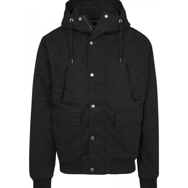 Urban Classics Hooded Cotton Jacket - Black