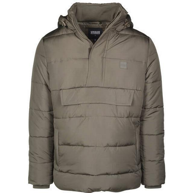 Urban Classics Pull Over Puffer Jacket - Darkolive