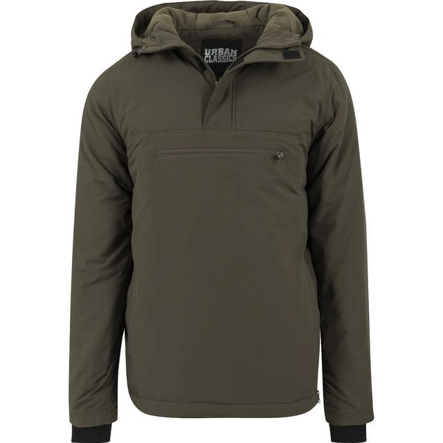 Urban Classics Padded Pull Over Jacket - Olive