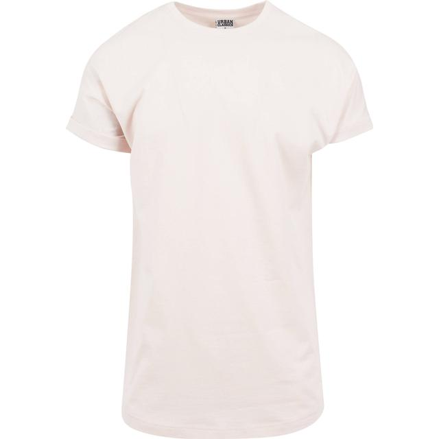 Urban Classics Long Shaped Turnup Tee - Pink