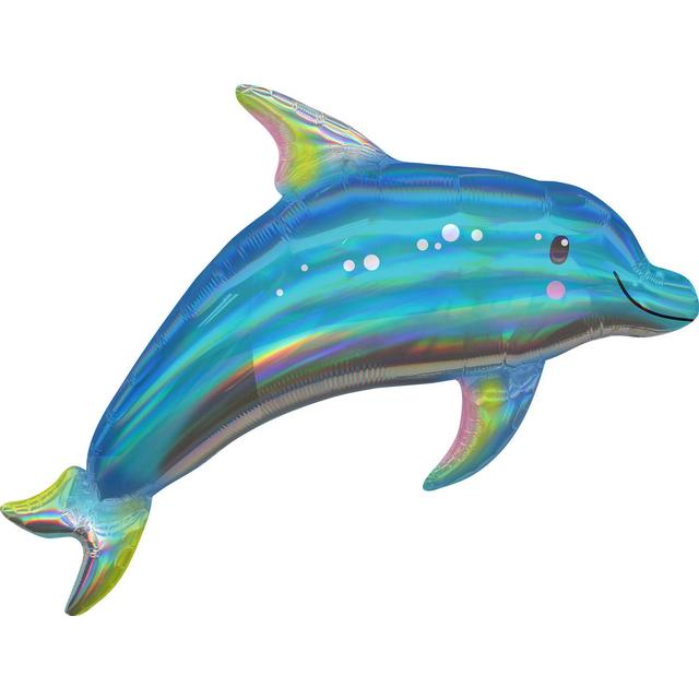 Amscan Holographic SuperShape Iridescent Dolphin (3937601)