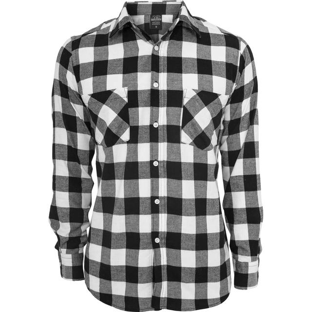 Urban Classics Checked Flannel Shirt - Black/White