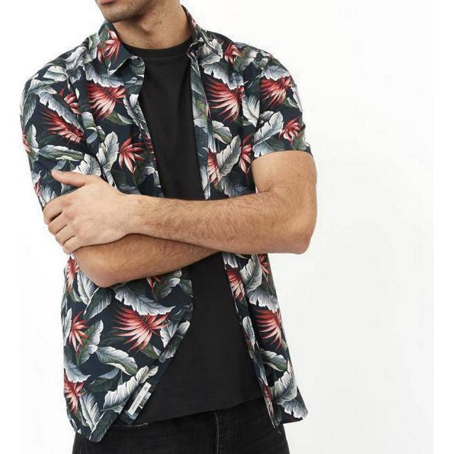 Minimum Aleksander Short Sleeved Shirt - Navy Blazer