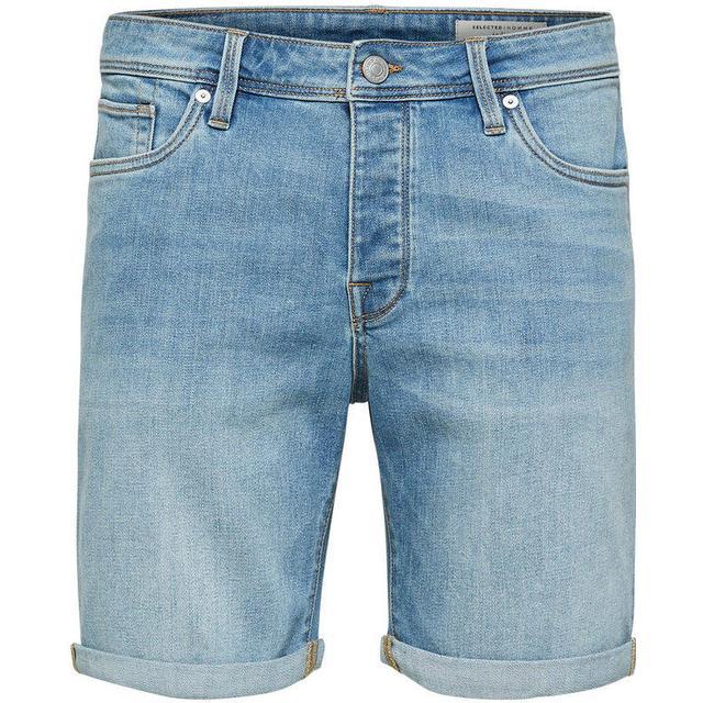 Selected Slhalex 312 Shorts - Blue/Light Blue Denim