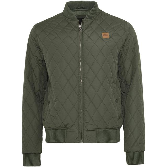 Urban Classics Diamond Quilt Jacket - Olive