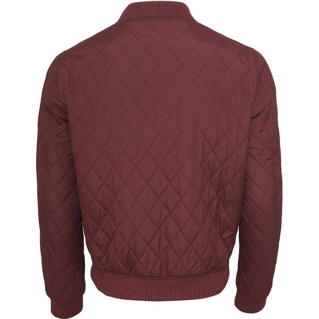 Urban Classics Burgundy Diamond Quilt Nylon Jakke Bordeaux