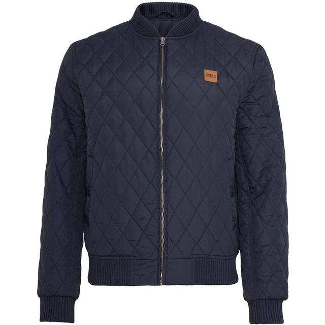 Urban Classics Diamond Quilt Jacket - Navy