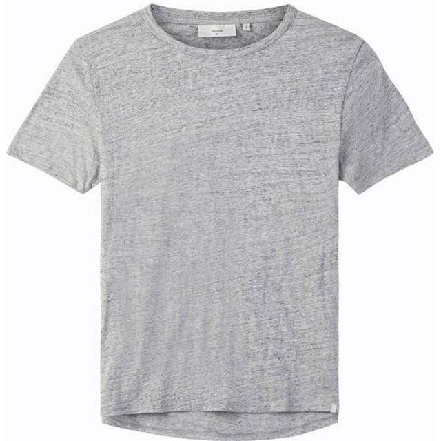 Minimum Delta Short Sleeved T-shirt - Light Grey Melange