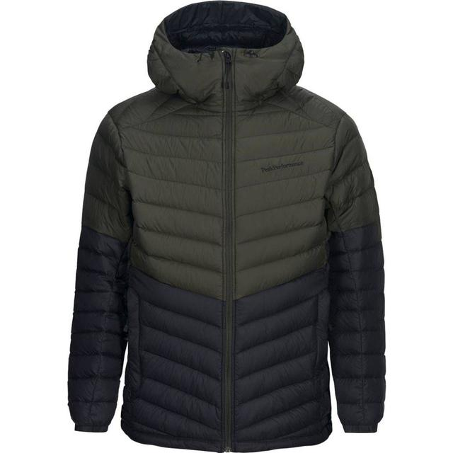Peak Performance Pertext Frost Down Hooded Blocked Jacket - Forest Night