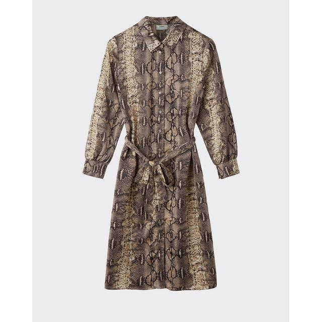 Minimum Kilana Snake Midi Dress Camel