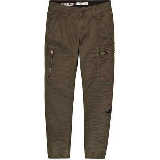 Name It Kid's Twill Woven Cargo Trousers - Green/Forest Night (13159153)