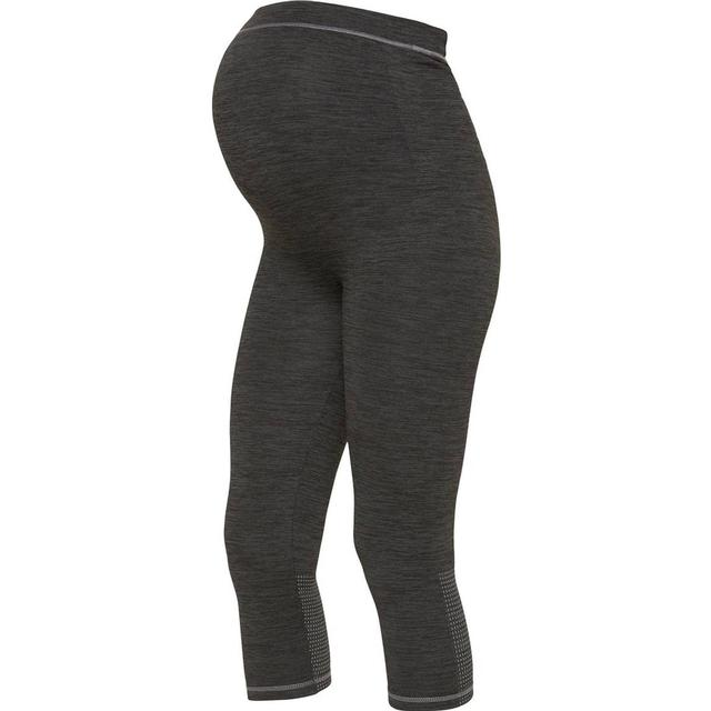 Mama.licious Active 3/4 Maternity Tights Grey/Dark Grey Melange (20010277)