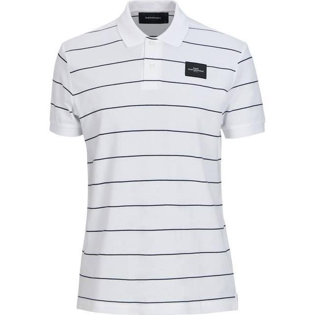 Peak Performance Striped Polo Shirt - White