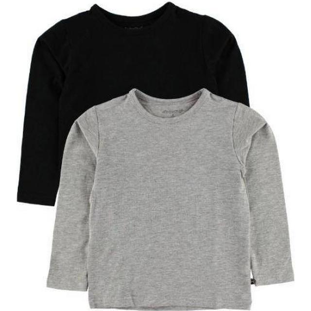 Minymo Basic 34 T-shirt LS 2-pak - Anthacite Black (3934-193)