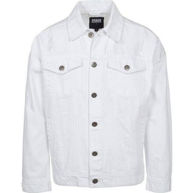 Urban Classics Ripped Denim Jacket - White