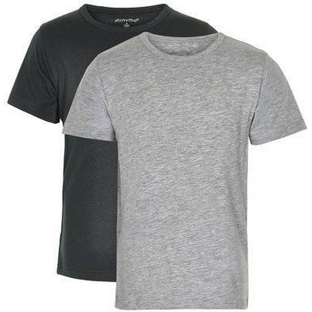 Minymo Basic T-shirt 2-Pak - Anthracite Black (3932-193)