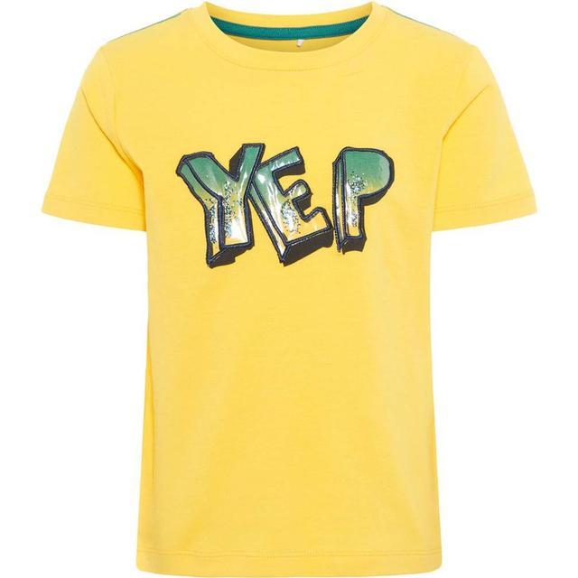 Name It Mini Printed T-shirt - Yellow/Daffodil (13165856)