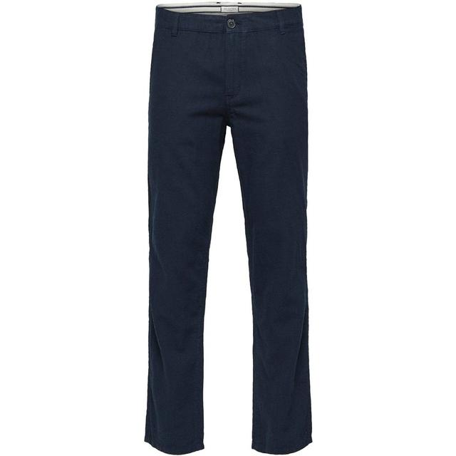 Selected Linen Trousers - Blue/Dark Sapphire