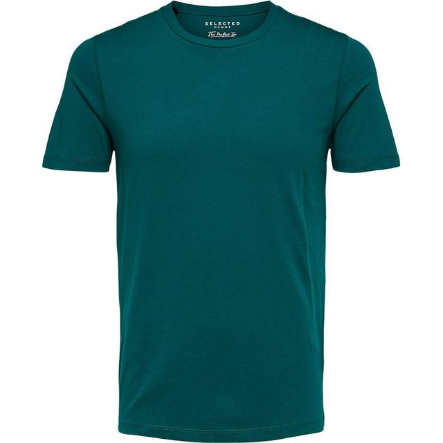 Selected O-Neck T-shirt - Green/Rain Forest