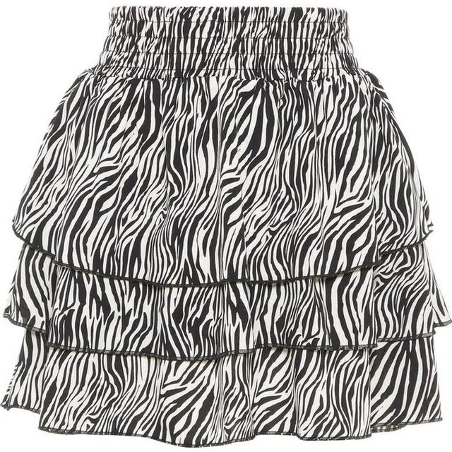 Name It Kid's Zebra Printed Skirt - Black/Black (13171097)