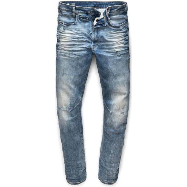 G-Star D-Staq 3D Skinny Jeans - Light Vintage Aged Destroy