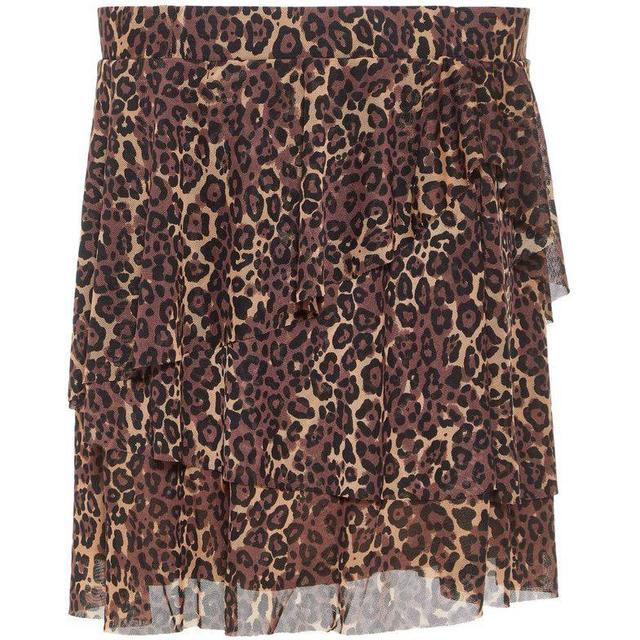 Name It Teen Leopard Patterned Mesh Skirt - Beige/White Pepper (13164211)