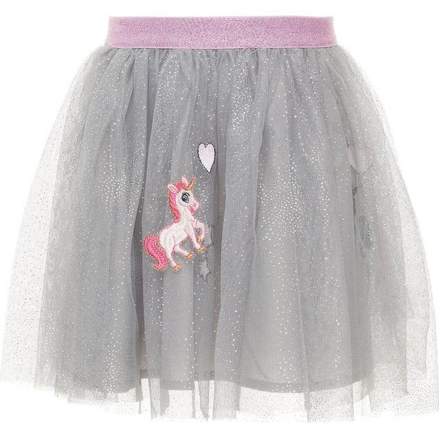 Minymo Mini Glittery Tulle Skirt Grey (13155414)