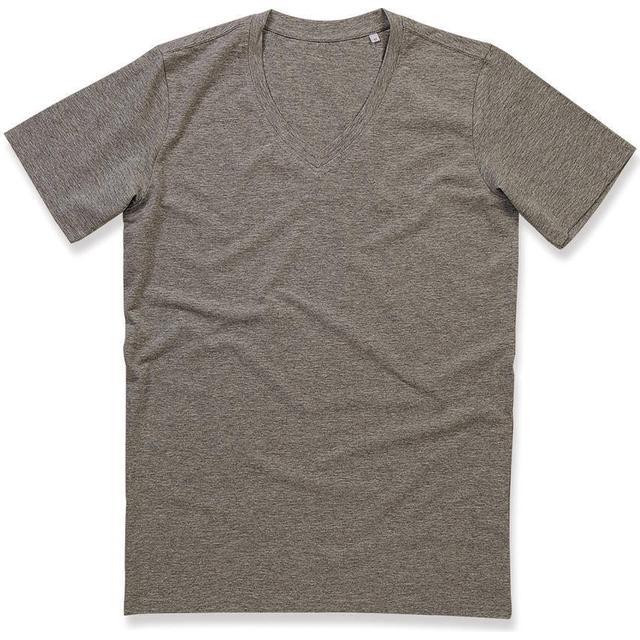 Stedman Dean Deep V-neck T-shirt - Grey Heather